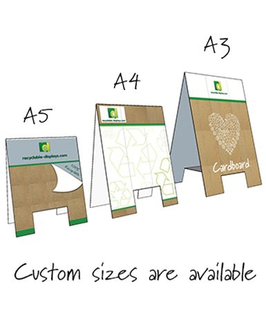 Tent Cards - A frame style