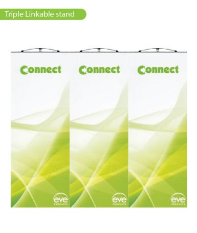 Linkable Banner Stands - 3 wide