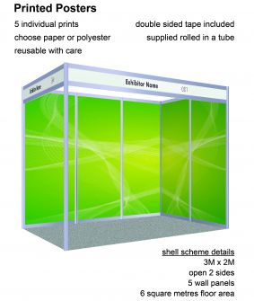 Posters - 5 panels for 2 x 3 shell scheme image