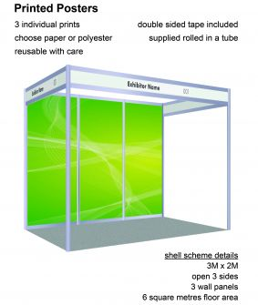 Posters - 3 panels for 2 x 3 shell scheme image