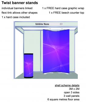 Twist banner stand exhibition package 3 image