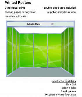 Posters - 9 panels for 3 x 3 shell scheme image