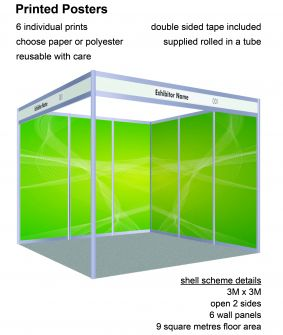 Posters - 6 panels for 3 x 3 shell scheme image