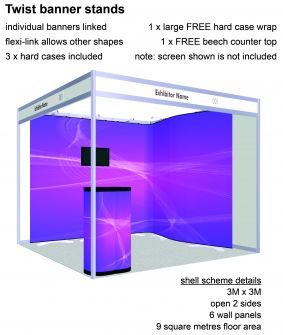 Twist banner stand exhibition package 5 image