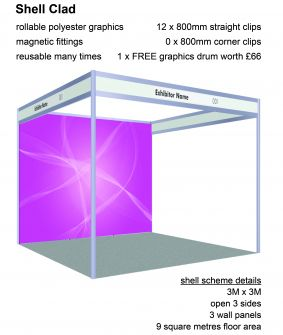 Shell Clad - 3 panels for 3 x 3 shell scheme image