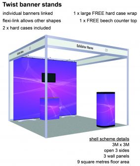Twist banner stand exhibition package 6 image