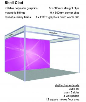 Shell Clad - 4 panels for 3 x 4 shell scheme image