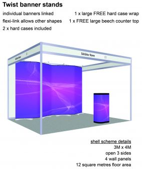 Twist banner stand exhibition package 9 image