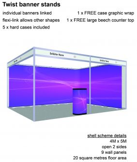 Twist banner stand exhibition package 11 image