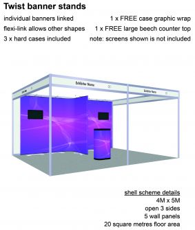 Twist banner stand exhibition package 12 image