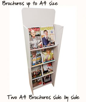 Brochure display shelving unit