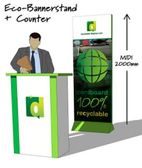 Eco Bannerstand with reception counter