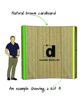 NEW!  BROWN card option for Eco-Display wall range. image